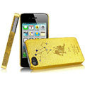 IMAK Leo Constellation Color Covers Hard Cases for iPhone 4G\4S - Golden