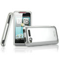IMAK Titanium Armor Knight Color Covers Hard Cases for HTC Lexicon S610D - Silver (High transparent screen protector)