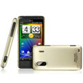 IMAK Titanium Color Covers Hard Cases for HTC EVO Design 4G Hero S Kingdom - Gold (High transparent screen protector)