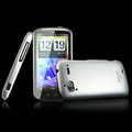 IMAK Titanium Color Covers Hard Cases for HTC Pyramid Sensation 4G G14 Z710e - Silver (High transparent screen protector)