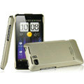 IMAK Titanium Color Covers Hard Cases for HTC Raider 4G X710E G19 - Gold (High transparent screen protector)