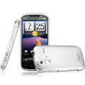 IMAK Titanium Color Covers Hard Cases for HTC Ruby Amaze 4G - Silver (High transparent screen protector)