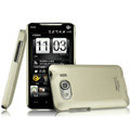 IMAK Titanium Color Covers Hard Cases for HTC T9199 - Gold (High transparent screen protector)