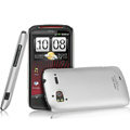 IMAK Titanium Color Covers Hard Cases for HTC Z715e Sensation XE G18 - Silver (High transparent screen protector)