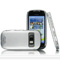 IMAK Titanium Color Covers Hard Cases for Nokia C7 - Silver (High transparent screen protector)