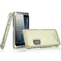 IMAK Titanium Color Covers Hard Cases for Nokia E7 - Gold (High transparent screen protector)