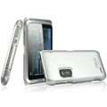 IMAK Titanium Color Covers Hard Cases for Nokia E7 - Silver (High transparent screen protector)
