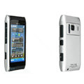 IMAK Titanium Color Covers Hard Cases for Nokia N8 - Silver (High transparent screen protector)