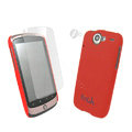 IMAK Ultrathin Color Covers Hard Cases for HTC Google Nexus One N1 G5 - Red (High transparent screen protector)