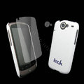 IMAK Ultrathin Color Covers Hard Cases for HTC Google Nexus One N1 G5 - White (High transparent screen protector)