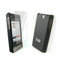 IMAK Ultrathin Color Covers Hard Cases for HTC Touch Diamond2 T5353 - Black (High transparent screen protector)