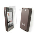 IMAK Ultrathin Color Covers Hard Cases for HTC Touch Diamond2 T5353 - Brown (High transparent screen protector)