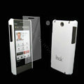 IMAK Ultrathin Color Covers Hard Cases for HTC Touch Diamond2 T5353 - White (High transparent screen protector)