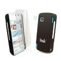 IMAK Ultrathin Color Covers Hard Cases for Nokia 5230 - Black (High transparent screen protector)