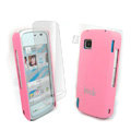 IMAK Ultrathin Color Covers Hard Cases for Nokia 5230 - Pink (High transparent screen protector)