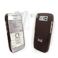 IMAK Ultrathin Color Covers Hard Cases for Nokia E71 - Brown (High transparent screen protector)
