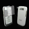 IMAK Ultrathin Color Covers Hard Cases for Nokia E71 - White (High transparent screen protector)