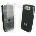 IMAK Ultrathin Color Covers Hard Cases for Nokia E72 - Black (High transparent screen protector)