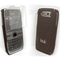 IMAK Ultrathin Color Covers Hard Cases for Nokia E72 - Brown (High transparent screen protector)