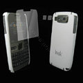 IMAK Ultrathin Color Covers Hard Cases for Nokia E72 - White (High transparent screen protector)
