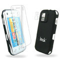 IMAK Ultrathin Color Covers Hard Cases for Nokia N97 mini - Black (High transparent screen protector)