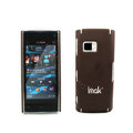 IMAK Ultrathin Color Covers Hard Cases for Nokia X6 - Brown (High transparent screen protector)