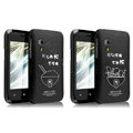 IMAK Ultrathin Lovers shell Hard Cases for Gionee C600 - Black (High transparent screen protector)