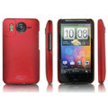 IMAK Ultrathin Matte Color Covers Hard Back Cases for HTC Desire HD A9191 A9192 G10 - Red (High transparent screen protector)