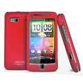 IMAK Ultrathin Matte Color Covers Hard Back Cases for HTC Desire Z T-Mobile G2 - Red (High transparent screen protector)