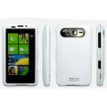 IMAK Ultrathin Matte Color Covers Hard Back Cases for HTC HD7 T9292 - White (High transparent screen protector)