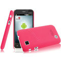 IMAK Ultrathin Matte Color Covers Hard Cases for Amoi N89 - Rose (High transparent screen protector)
