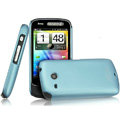 IMAK Ultrathin Matte Color Covers Hard Cases for HTC A6390 - Blue (High transparent screen protector)