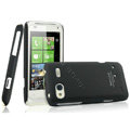 IMAK Ultrathin Matte Color Covers Hard Cases for HTC C110e Radar - Black (High transparent screen protector)