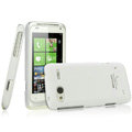 IMAK Ultrathin Matte Color Covers Hard Cases for HTC C110e Radar - White (High transparent screen protector)