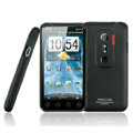 IMAK Ultrathin Matte Color Covers Hard Cases for HTC EVO 3D G17 X515m - Black (High transparent screen protector)