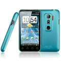 IMAK Ultrathin Matte Color Covers Hard Cases for HTC EVO 3D G17 X515m - Blue (High transparent screen protector)