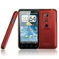 IMAK Ultrathin Matte Color Covers Hard Cases for HTC EVO 3D G17 X515m - Red (High transparent screen protector)