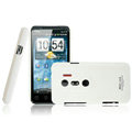 IMAK Ultrathin Matte Color Covers Hard Cases for HTC EVO 3D G17 X515m - White (High transparent screen protector)