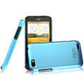 IMAK Ultrathin Matte Color Covers Hard Cases for HTC One V Primo T320e - Blue (High transparent screen protector)