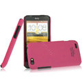 IMAK Ultrathin Matte Color Covers Hard Cases for HTC One V Primo T320e - Rose (High transparent screen protector)