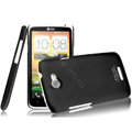 IMAK Ultrathin Matte Color Covers Hard Cases for HTC One X Superme Edge S720E G23 - Black (High transparent screen protector)
