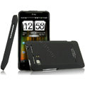 IMAK Ultrathin Matte Color Covers Hard Cases for HTC Raider 4G X710E G19 - Black (High transparent screen protector)