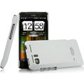 IMAK Ultrathin Matte Color Covers Hard Cases for HTC Raider 4G X710E G19 - White (High transparent screen protector)