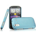 IMAK Ultrathin Matte Color Covers Hard Cases for HTC Ruby Amaze 4G - Blue (High transparent screen protector)