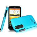 IMAK Ultrathin Matte Color Covers Hard Cases for HTC T328W Desire V - Blue (High transparent screen protector)