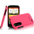 IMAK Ultrathin Matte Color Covers Hard Cases for HTC T328W Desire V - Rose (High transparent screen protector)