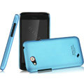 IMAK Ultrathin Matte Color Covers Hard Cases for HTC T328d Desire VC - Blue (High transparent screen protector)