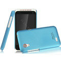 IMAK Ultrathin Matte Color Covers Hard Cases for HTC T328t Desire VT - Blue (High transparent screen protector)