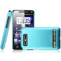 IMAK Ultrathin Matte Color Covers Hard Cases for HTC T9188 A9188 - Blue (High transparent screen protector)