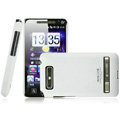 IMAK Ultrathin Matte Color Covers Hard Cases for HTC T9188 A9188 - White (High transparent screen protector)